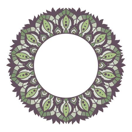 mandala frame, vector