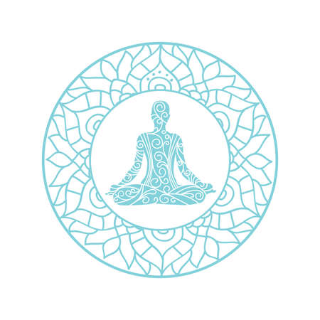 mandala with meditating person inside