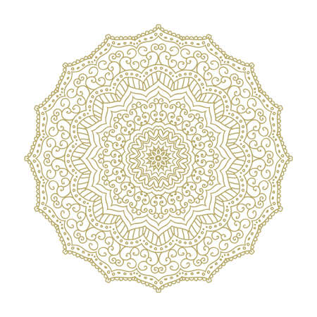 floral mandala, vector