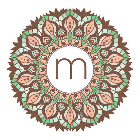 colorful mandala frame, vector Ilustrace