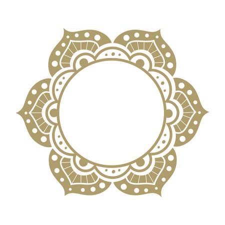 ornamental mandala frame