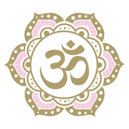mandala with OM symbol