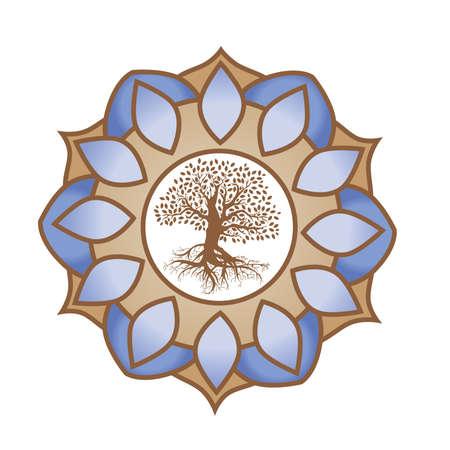 mandala with tree of life