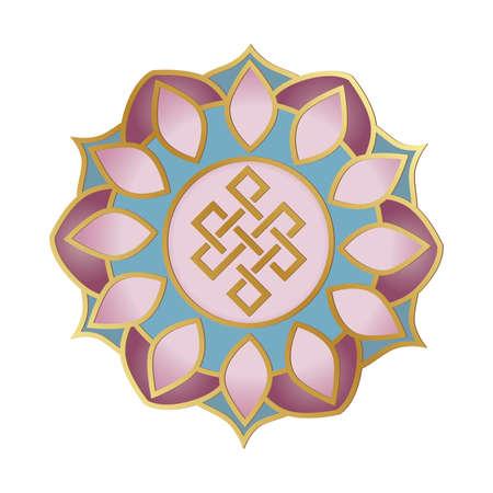 mandala with life path symbol