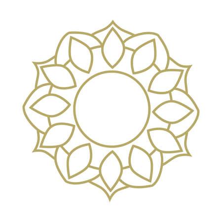 gold mandala frame Ilustrace