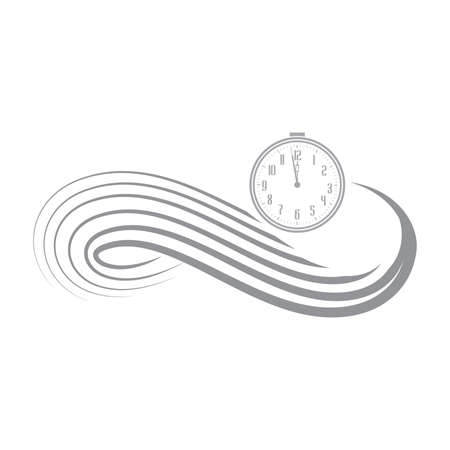 clock as a part of infinity symbol, vector artwork Stok Fotoğraf - 133378107