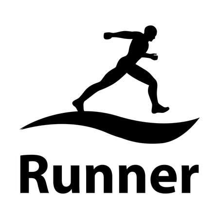 runner , vector graphic design element Illustration