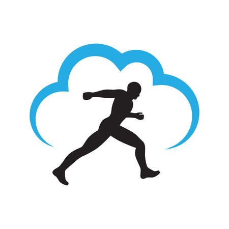 runner and blue cloud