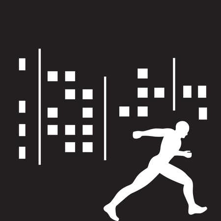 runner and city