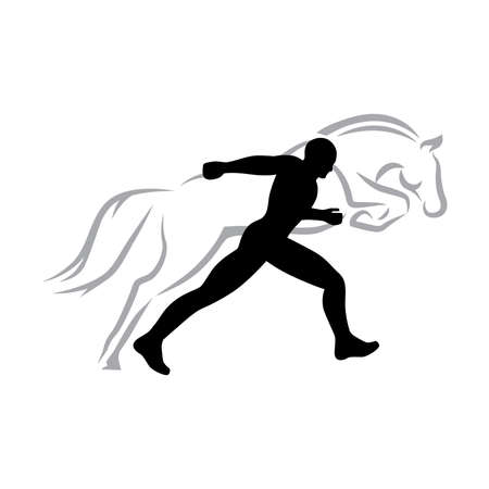 runner and horse