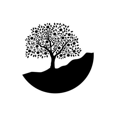 apple tree, logo icon Vectores