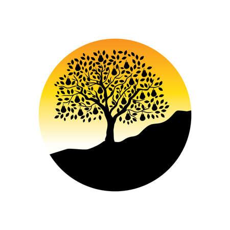 pear tree, logo icon Ilustração