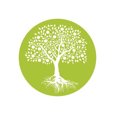 apple tree, logo icon Stock Illustratie