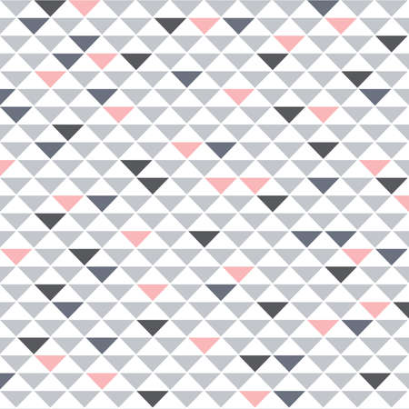 triangles, geometric grey, white and pink pattern, vector background