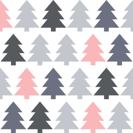 abstract pine trees, vector graphic design element