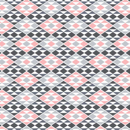 geometrical gray , white and pink vector background with Native American motif
