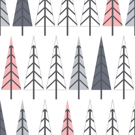abstract pine trees, vector background Çizim