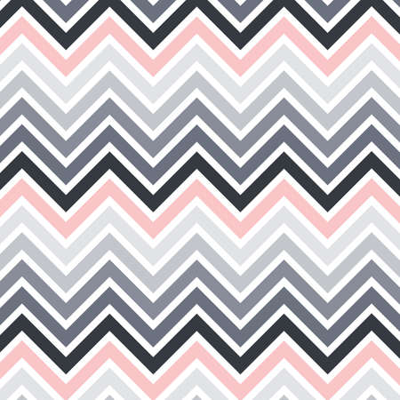 chevron pattern. gray, white and pink vector background Çizim