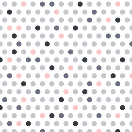gray, white and pink dots, vector background