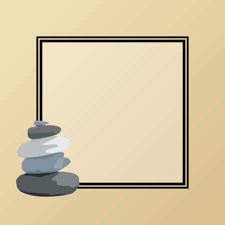 Zen stones, vector label background Иллюстрация