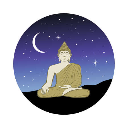 Buddha and starry night
