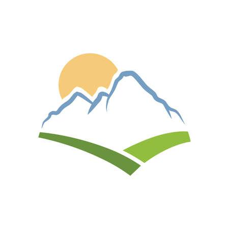 beautiful mountain landscape, vector graphic design element