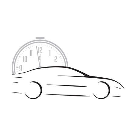 clock and car