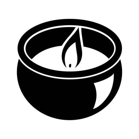 single candle, black vector graphic design element
