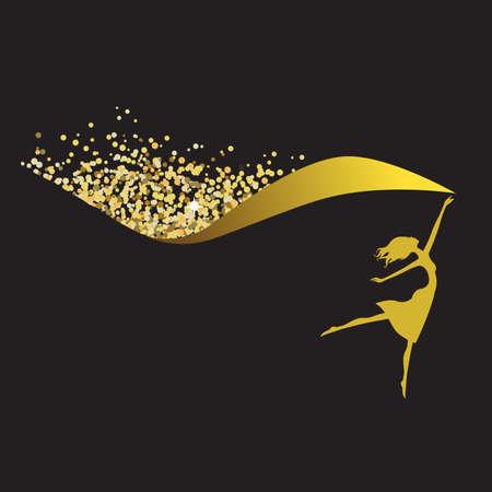 golden glitters dancer