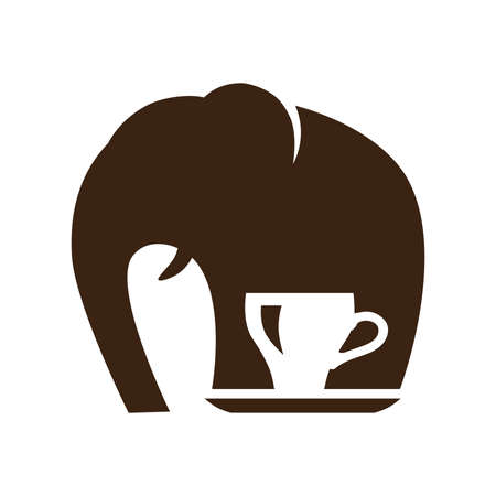 elephant and cup of coffee