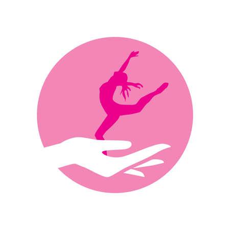 hand holding miniature ballerina