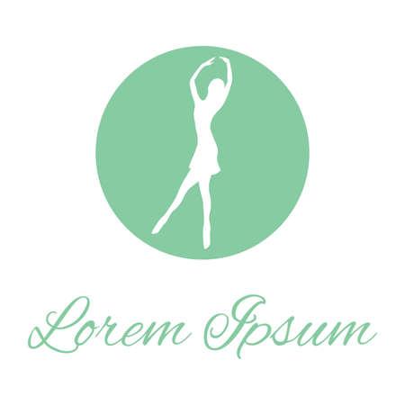 ballerina, vector graphic design element Illustration