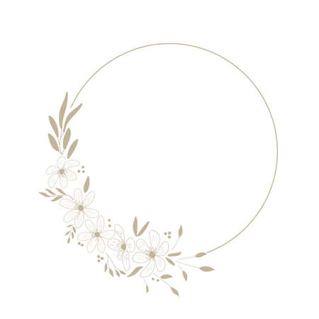 golden flowers, vector