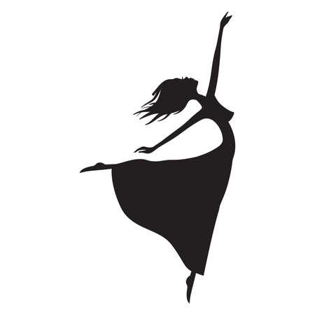 abstract ballerina vector illustration Illustration