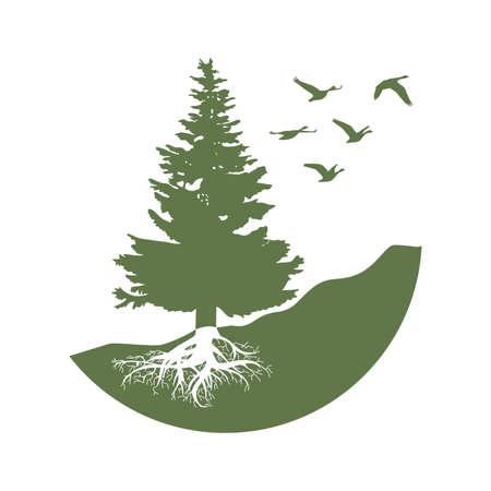 pine tree, graphiv design element