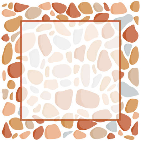pebbles, label vector background
