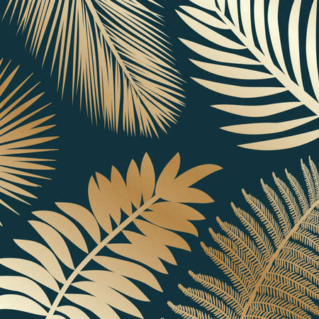 tropic leaves, vector background