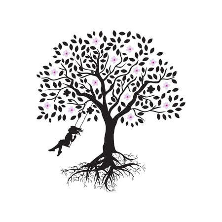blooming tree swing