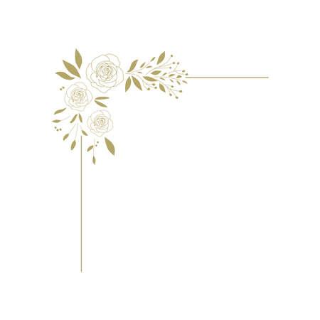 golden roses vector graphic design element