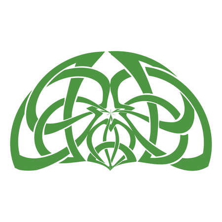 Heart and Celtic trinity knot, vector
