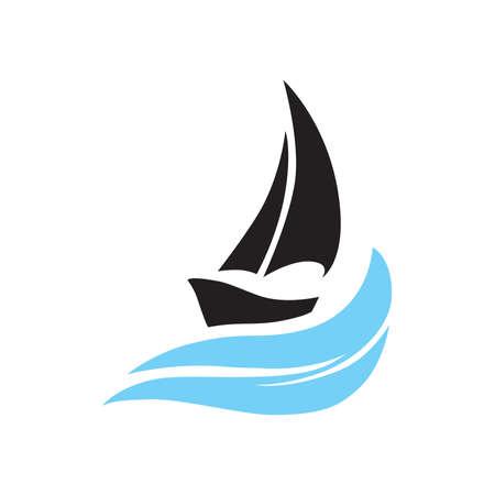 sail boat, vector