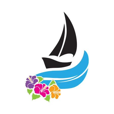 sail boat, vector Vektoros illusztráció