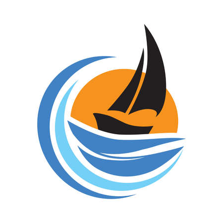 sail boat, vector Ilustração
