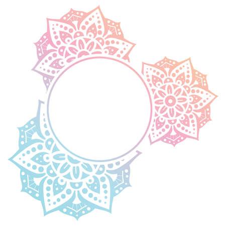Mandala. Circular figure representing the universe in Hindu and Buddhist.