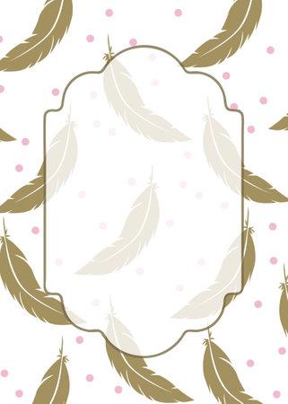 feather invitation background