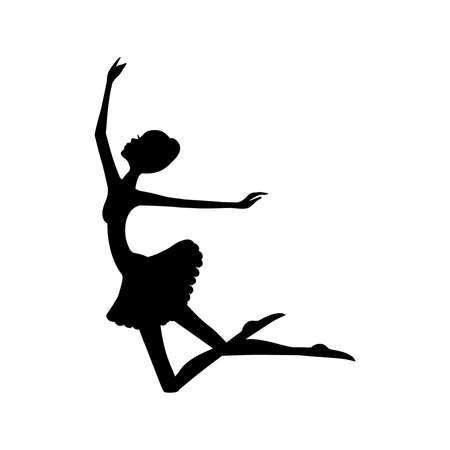 modern ballet dancer, ballerina Vektoros illusztráció