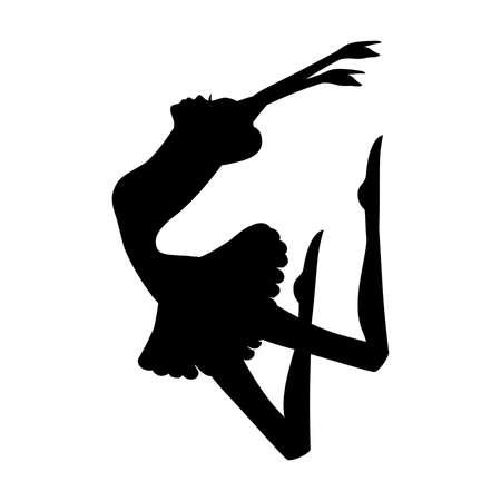 modern ballet dancer, ballerina Ilustração