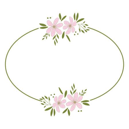 pink flowers wreath