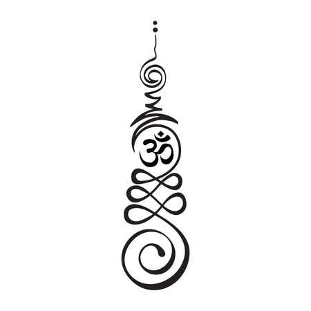 Unalome, Buddhist symbol represents life's path toward enlightenment.