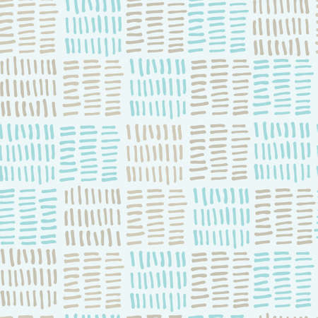 Seamless plaid pattern with checks made of hand drawn dashes. For wrapping paper, surface design and other design projects